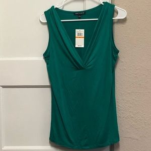 Cable & Guage Sleeveless Top Green Size S NWT